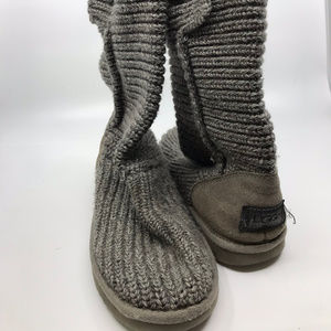 Knitted UGG Gray Boots Size